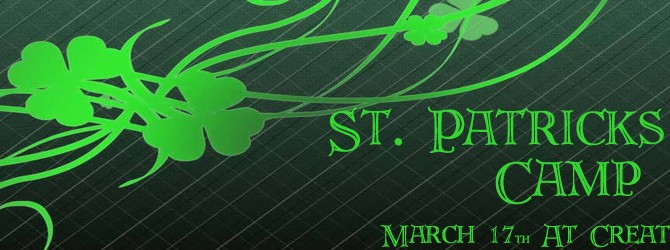 St. Patrick's Day Camp 2016